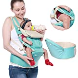 Suidcsui 3 in 1 Newborn Baby Front Carrier Infant Comfort Backpack Sling Wrap with Waist Stool Adjustable 360°