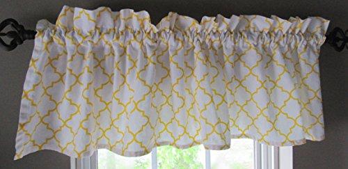 Open Trellis Patterned Window Valance