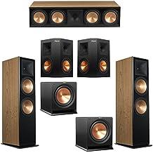 Klipsch 5.2 Cherry System with 2 RF-7 III Floorstanding Speakers, 1 RC-64 III Center Speaker, 2 Klipsch RP-250S Surround Speakers, 2 Klipsch R-112SW Subwoofers