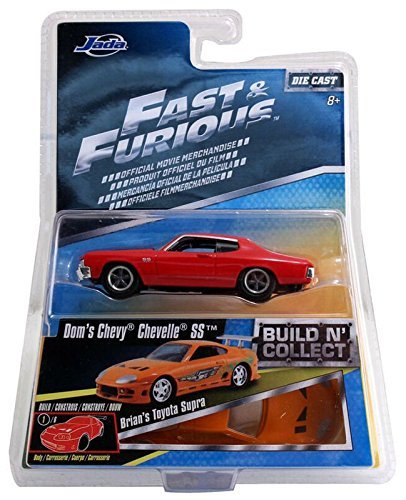 JADA 1:55 2016 Fast & Furious Build 'N Collect Dom's Red 1970 CHEVY CHEVELLE SS Die Cast (1970 Chevy Chevelle)