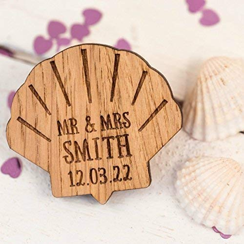 77a60dd3c9d0 Personalised Wedding Confetti Shells Mr & Mrs Decoration Wedding Favours  Table