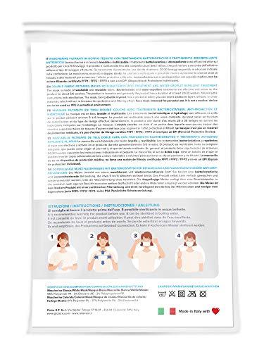 Relaxsan - Set 3 [Arancio Fluo] Fasce filtranti Viso Bocca Naso Lavabili riutilizzabili assorbenti Tessuto… 5 spesavip