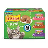 Purina Friskies Pate Adult Wet Cat Food Variety (2 Packs of 12) 5.5 oz. Cans
