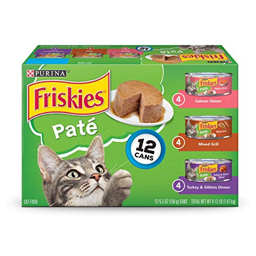 Purina Friskies Pate Adult Wet Cat Food Variety  5.5 oz. Can