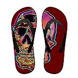 Boys Flash Skull Pattern Casual Unisex Soft Flippers Flip Flops