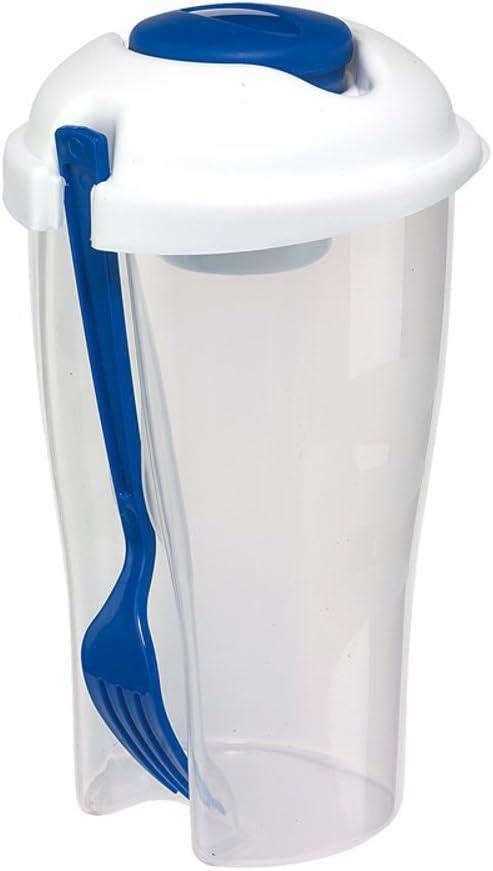 Ensaladera de vasos de papel de colour azul de 850 ml con ...