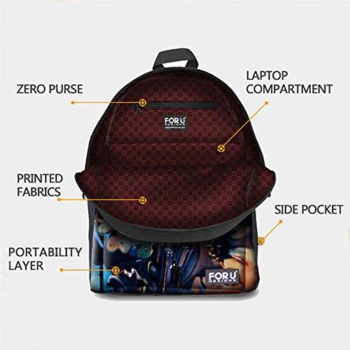 FOR U DESIGNS Whistling Wolf School Shoulder Backpacks Kid's Teen Boys Girls Bookbags Pencilcase Lunchbox 3 Picec/Set by FOR U DESIGNS (Image #2)