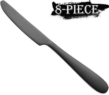 Amazon.com: Juego de cuchillos para cena, 8 piezas, acero ...