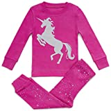 #1: Girls Pajamas Unicorn Pegasus Lips 2 Piece 100% Super Soft Cotton (12m-8y)