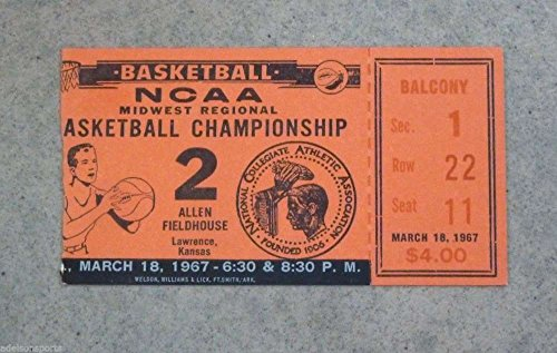 (NCAA CHAMPIONSHIP REGIONAL FINAL BASKETBALL TICKET 1967 - SMU vs HOUSTON)