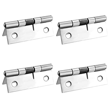 4Pcs Spring Hinge Toolkitworld 2.09 x 0.75 x 0.71 Stainless Steel Butt Hinges for Cupboard Jewelry Box