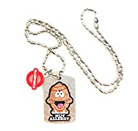 AllerMates Kids Medical Alert Nut Allergy Children's Necklace