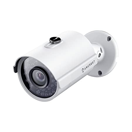 Amcrest Full HD 1080P 1920TVL Bullet Outdoor Security Camera, 2MP 1920×1080, 98ft Night Vision, Metal Housing, 3.6mm Lens 90 Viewing Angle, White REP-AMC1080BC36-W Renewed