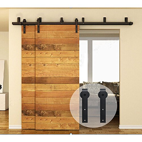 CCJH Flat Style Bypass Sliding Barn Wood Closet Door Rust...