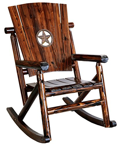Leigh Country TX 93621 Star Medallion Outdoor Rocker (Country Living Outdoor Furniture)