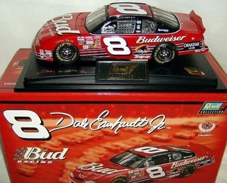 NASCAR Dale Jr #8 Dale Earnhardt Jr Budweiser 2002 Chevrolet Monte Carlo 1/24 Scale Diecast Hood Opens Trunk Opens Limited Edition Revell Collection With Hard Acrylic Display Case ()