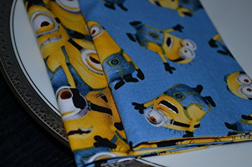 Minion Mania Reversible Cloth Napkins/Set of 4