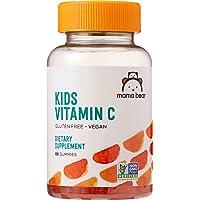Amazon Brand - Mama Bear Vegan Kids Vitamin C, 60 Gummies, Immune Health, 125 mg...
