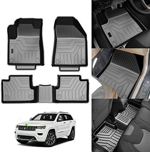 KUST 3D Floor Mats for Jeep Cherokee 2016-2021(Not for Jeep Grand Cherokee) All Weather Floor Carpet Liner 2 Row Liner SetTPE Durable Odorless
