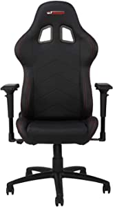 GT OMEGA PRO Racing Gaming Chair with Ergonomic Lumbar Support - PVC Leather Reclining High Back Home Office Chair with Swivel - PC Gaming Desk Chair for Ultimate Racing Experience - Black