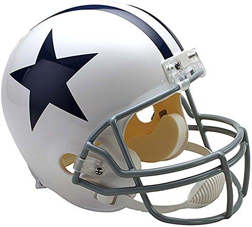 Sports Memorabilia Riddell Dallas Cowboys Throwback 1960-1963 VSR4 Full-Size Replica Football Helmet - NFL Replica Helmets 1960 Authentic Throwback Helmet