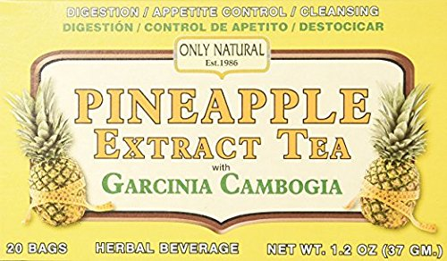 (Only Natural Tea Pineapple Extract, Garcinia Cambogia Tea Bags, 20 Count)
