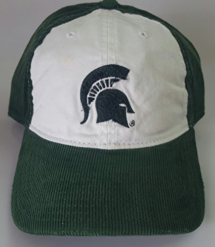 NCAA New Corduroy Michigan State Spartans Embroidered Adjustable Buckle Cap