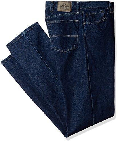 Wrangler Authentics Men's Classic 5-Pocket Regular Fit Jean, Dark Rinse, 38x28 Best Straight Leg Jeans