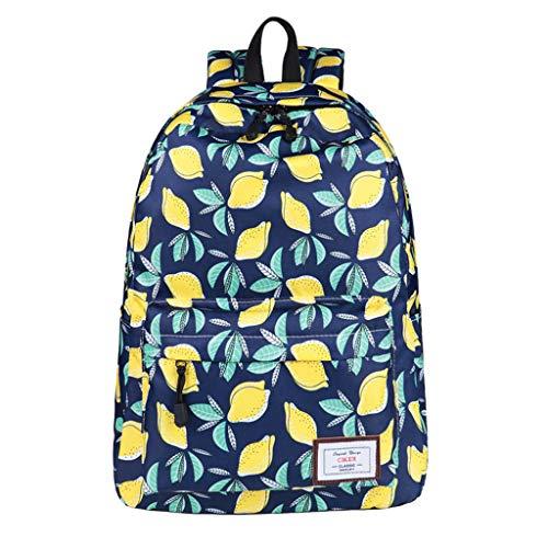 Lemon Printing Waterproof Backpacks Teenage Girls Children Backpack Rucksack School Bags Mochilas Bookbag Sac
