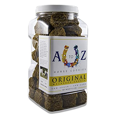 Horse Cookie Treat by A to Z Horse Cookies | Original Flavor, Low Carb Low Sugar Softer Cookie, Organic Ingredients, Great For All Horses, Excellent For Those With Metabolic Conditions, 4.5 lbs - Simply Delicious Muffins