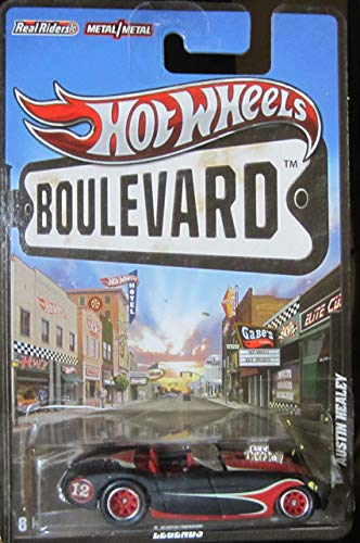 (Hot Wheels Boulevard Legends Austin Healey Real Riders Rubber Wheels Collectible Die Cast)