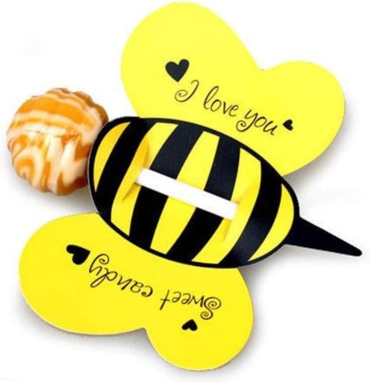 WallyE Bumble Bee Lollipop Candy Decor Card, What It Will Bee Gender Reveal Party Supplies, 50pcs