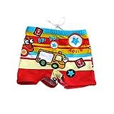 Boy Leg Swim Shorts for Kids Cartoon Cartoon Car Swim Trunk, 3-5 Years Old, XL