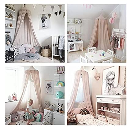 Baby Boy Girl Children Princess Mosquito Net Bed Tent Canopy Crib Round Lace Dome Netting Curtains by PPOVEN