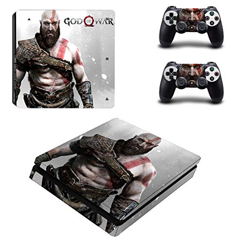 Vinyl Protective Skin Cover Sticker for PS4 Slim Console & Controller - God of War Kratos by Mr Wonderful Skin (Playstation 3 God Of War Ascension Bundle)