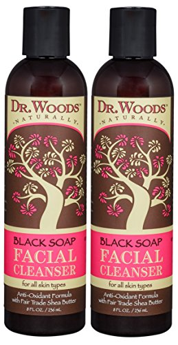 Dr Woods Black Soap (Dr. Woods Black Soap Liquid Facial Cleanser with Organic Shea Butter, 8 Ounce (Pack of 2))