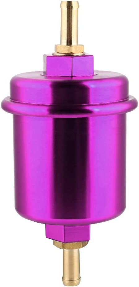 Duokon Kraftstofffilter 62MM Aluminium Hochleistungskraftstofffilter Waschbar f/ür Filter schwarz
