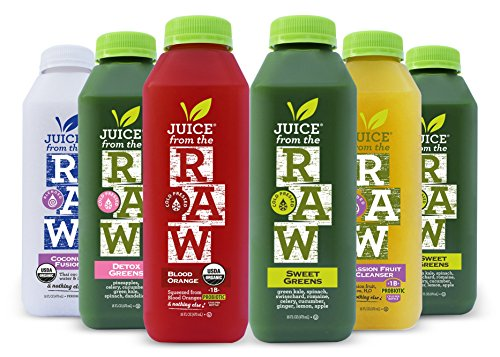 Juice From the RAW 3 Day Juice Cleanse - Believer Cleanse with Probiotics - 18 Bottles - Free 2-Day Delivery (Best Juice Cleanse For Losing Weight)