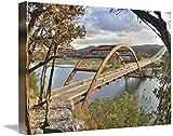 Wall Art Print entitled Pennybacker-Bridge-At-Sunset by John French | 48 x 32