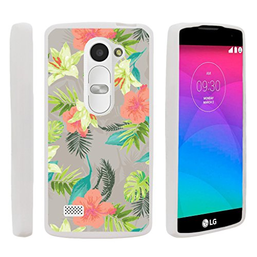 TurtleArmor | LG Sunset Case | LG Power Case | LG Destiny Case [Flexible Armor] Ultra Slim Compact Flexible TPU Case Fitted Soft Bumper Cover Girl Designs - Hawaiian Flowers (Cover Sunset)