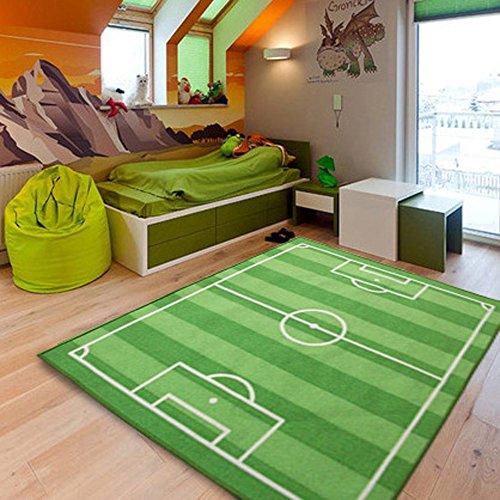 LIANG große Kinder Teppich Fußballspiele für Kinder (130cm * 110cm)