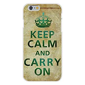 Apple iphone 6 plusd 5.5 Custom Case White Plastic Snap On - Keep Calm and Carry On Old Paper Background WANGJING JINDA