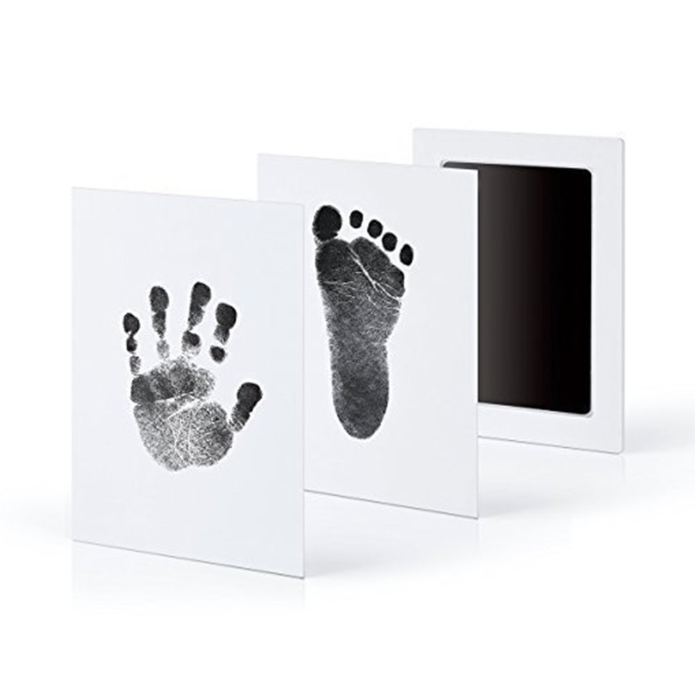 Baby Clay Hand Footprint Memory Maker for Growing Infants and Toddlers – Soft, Nontoxic Clay – Best Baby Shower or Maternity Gift 9.5 * 5.7cm Nontoxic Clay - Best Baby Shower or Maternity Gift 9.5 * 5.7cm Rocita