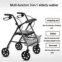 WXC WALKER Ayuda a Caminar Andador De Andador De Cuatro Ruedas ...