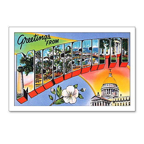 CafePress Mississippi Greetings Postcards (Package of 8), 6