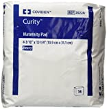 """Covidien Curity Maternity Pad Heavy 4.33"""" x 12.25"""" (3 Packs of 14 Pads)"""