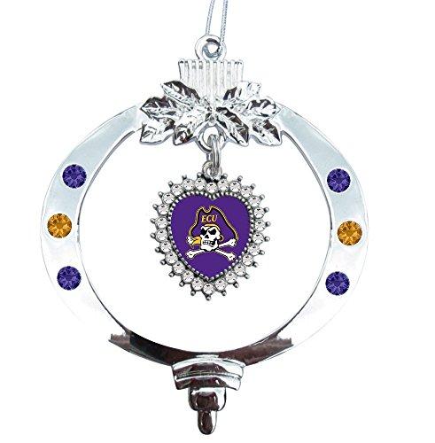 East Carolina Christmas Ornament (Pirate with Crossbones)