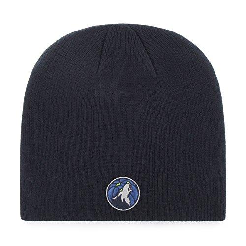 fan products of NBA Minnesota Timberwolves OTS Beanie Knit Cap, Navy, One Size
