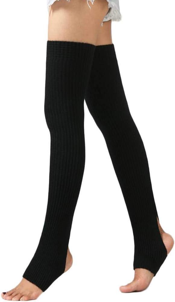 Zerama 1 Par Mujeres Niñas Calentadores de la Pierna Calcetines Largos sin Base de Calcetines de Invierno de Baile de otoño Medias Ballet Yoga