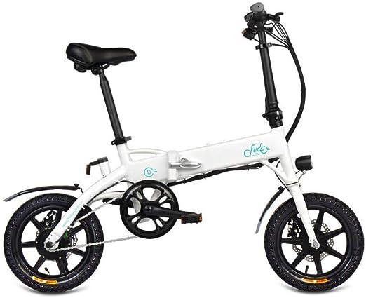 Quiet.T Bicicleta Eléctrica Plegable, 3 Pasos, Plegado Rápido, Más Seguro, Potente Motor De 250 Vatios, Velocidad Máxima De 25 Km/H para Adultos (Negro, Blanco): Amazon.es: Hogar